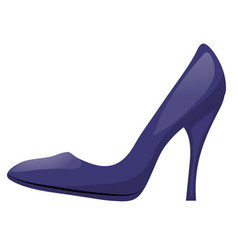 Dark blue shoe with high heel isolated on white vector