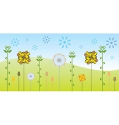 floral backgound vector image vector image