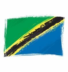 Grunge tanzania flag vector