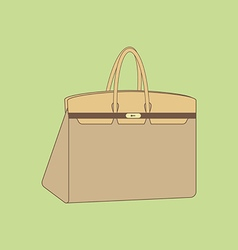 Handbag icon vector