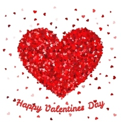 Happy Valentines Day poster or card template Big vector image vector image