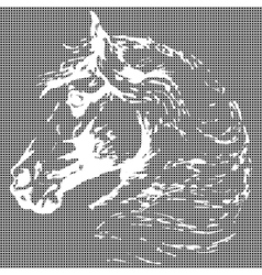 horse textural background vector image