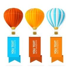 Hot air balloon banner vector