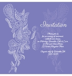invitation White butterfly pattern vector image