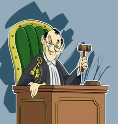 Judge cartoon vector image