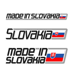 made in slovakia vector image vector image