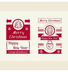 Merry Christmas invitation typographic design vector image vector image