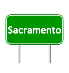 Sacramento green road sign vector