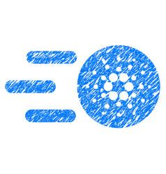 Send cardano icon grunge watermark vector