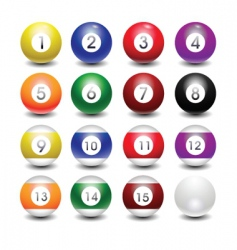 snooker balls vector image vector image