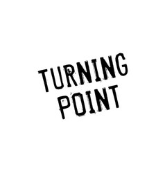 turning point rubber stamp vector image vector image