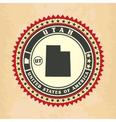 Vintage label-sticker cards of utah vector