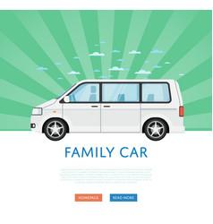 Website design with family minivan vector