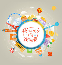 Travel around the world concept template for a vector
