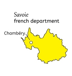 Savoie french department map vector