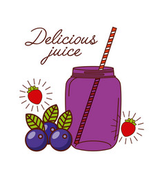 Delicious juice design vector