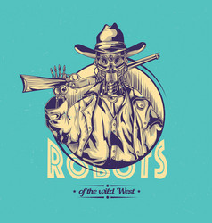 wild west t-shirt label design vector image