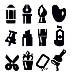 art tools icon vector image