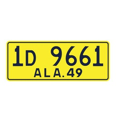 Alabama 1949 license plate vector