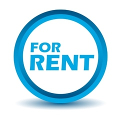 Blue rent icon vector