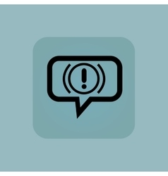 Pale blue alert message icon vector