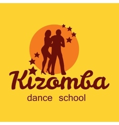 Kizomba poster for the party dancing couple vector