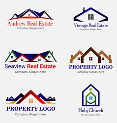 Real estate logo logos vector