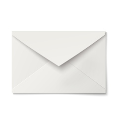 Slightly ajar opened white envelope isolated vector