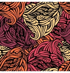 Abstract seamless pattern in warm vector