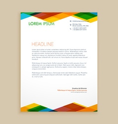 Abstract colorful letterhead vector