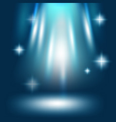 Abstract stardust blue light background vector