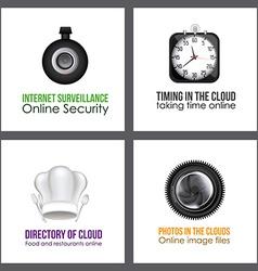 Applications Cloud design vector image