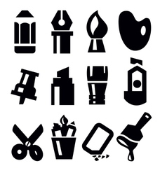Art tools icon vector