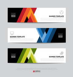 Banner design for business presentation vector