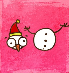 Beheaded Snowman Cartoon vector image vector image