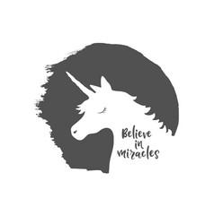 believe in miracles vector image