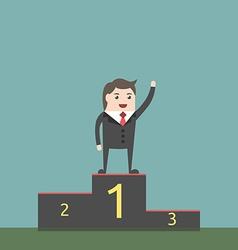 Businessman on pedestal vector image vector image