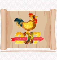 Chinese new year 2017 parchment sign vector