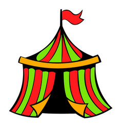 circus tent icon icon cartoon vector image