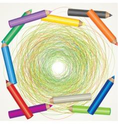 color pencils sketch vector image vector image