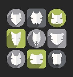 Dog icons in flat style vector image
