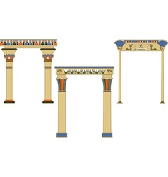egyptian arch vector image vector image