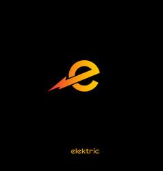 Electric logo with lightnin vector