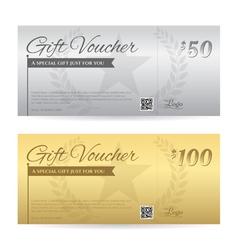 Elegant gift voucher or gift card certificate vector