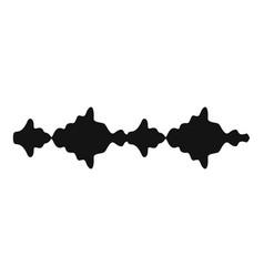 equalizer sound radio icon simple black style vector image vector image