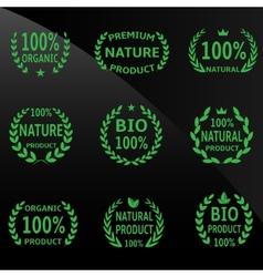 Green laurel vector image