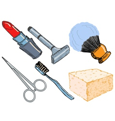 Hygienic objects vector