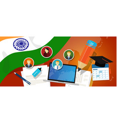 India education school university concept with vector