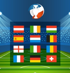 Light stadium mast Football infographic tem vector image vector image