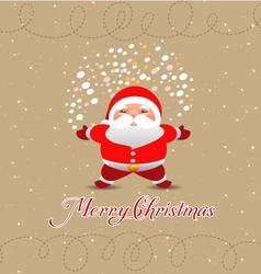 merry christmas postcard in retro vector image